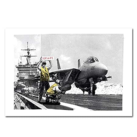 Applause aircraft carrier graffiti banksy poster print picture ...