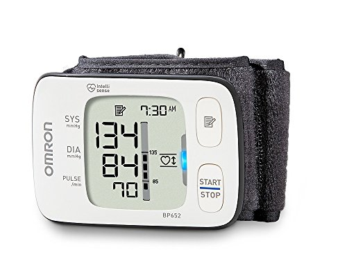 - Omron 7 Series Wrist Blood Pressure Monitor; 100-Reading Memory with Heart Zone Guidance and UltraSilent Inflation by Omron