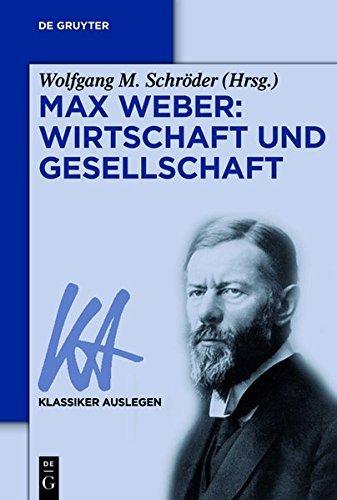 Ebook cover from Max Weber: Wirtschaft und Gesellschaft (Klassiker Auslegen) (German Edition) by Bruno Bosteels