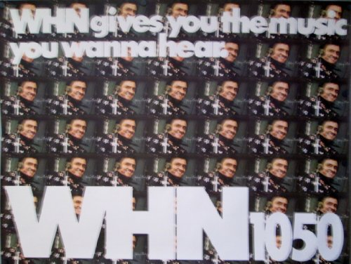 POSTER-JOHNNY CASH ORIGINAL 1980 WHN PROMO POSTER 45 1/2