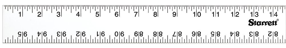 Starrett ASE-96 Anodized Aluminum Straight Edge Rule, 96'' Length, 2'' Width