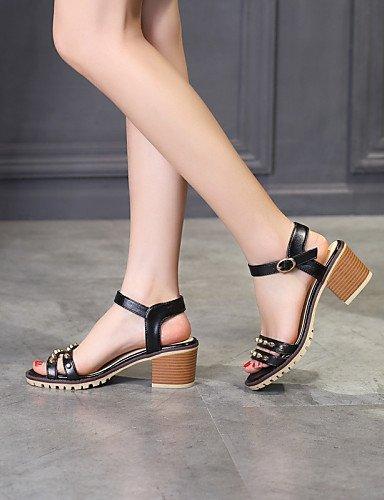 ShangYi Women's Shoes Heel Heels / Peep Toe Sandals / Heels Outdoor / Dress / Casual Black / Blue / Pink / White Pink RoxV36