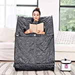 Himimi 2L Foldable Steam Sauna Portable Indoor Home Spa Weight Loss Detox with Chair Remote (Gray-?)