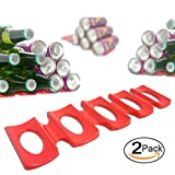 Foldable Silicone Wine Bottle Stacker, Red - Comes with a Bottle...