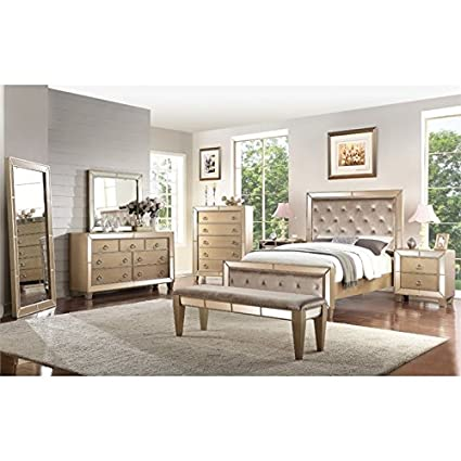 Amazon.com: Abbyson Francesca 8 Piece King Panel Bedroom Set ...