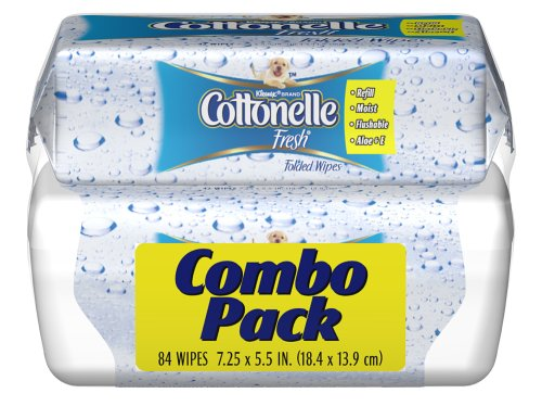 Cottonelle Fresh Folded Moist Wipes Pop-Up Tub/Refill Combo, 84 Wipes (Pack of 8)