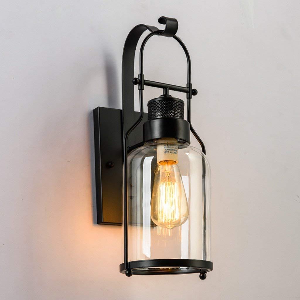 Vintage industrielle Wandlampen Retro Loft Wandleuchte (Farbe   schwarz)