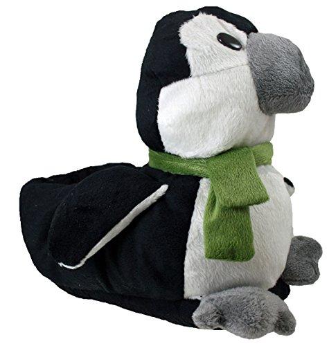 Mujer Cute Regalo De Navidad Oso Vaca Panda Pingüino Mujer Zapatillas Novedad Penguin Green