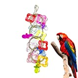 Nesee Parrot Pendant Bite Toy, Colorful Pet Bird