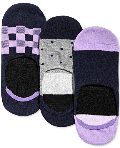 Bar III Men's 3 Pack Sock Liners (Shoe Size 7-12, Purple) ()