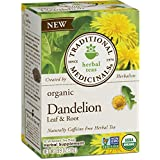 Traditional Medicinals Organic Dandelion Leaf and Root Tea, 16 Tea Bags (Pack of 6)