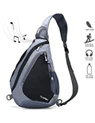 Sling Backpack, Chest Bag CLINFISH Water Resistant Nylon Shoulder Pack Small Outdoor Lightweight Crossbody Daypack...