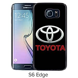 Durable and Fashionable Case Design with Toyota logo 3 Samsung Galaxy S6 Edge Black Phone Case