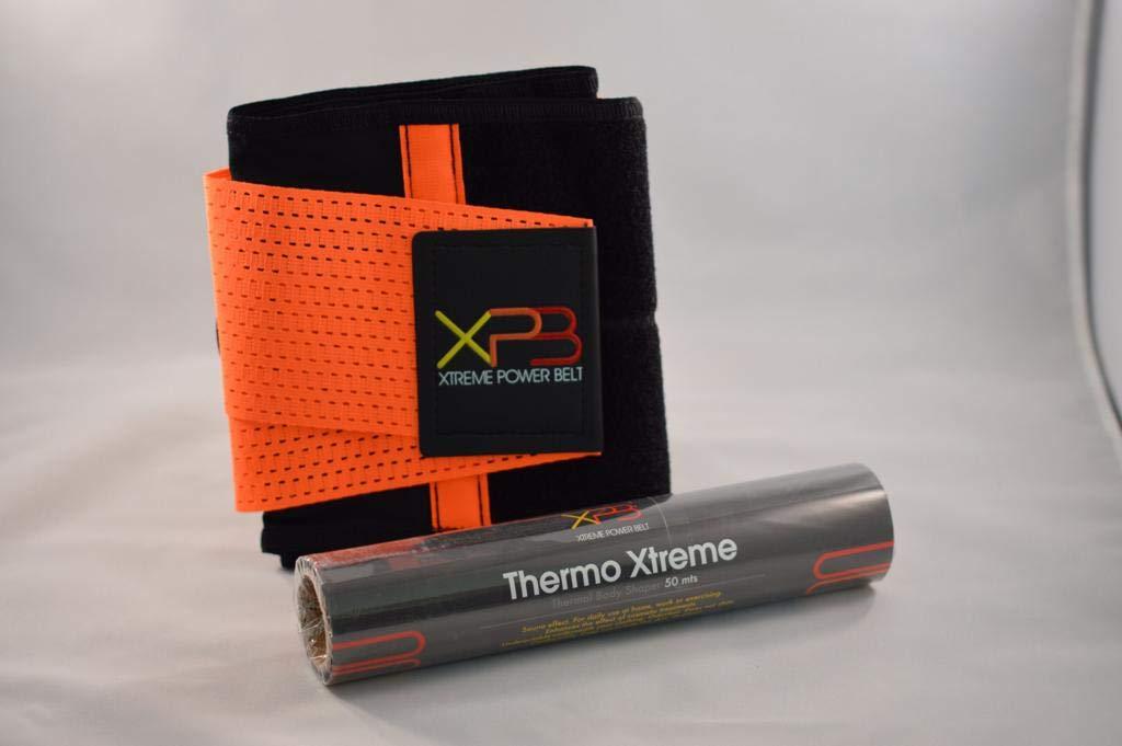 Xtreme Power Belt + Osmotic Paper Wrap Combo Unisex Belt Trimmer (Large)