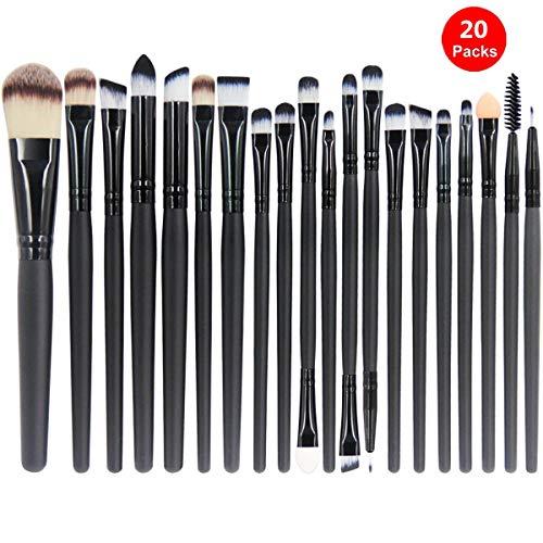 Makeup Brushes Set Premium Kabuki Brushes Synthetic Foundation Blending Blush Face Eyeliner Shadow Brow Concealer Lip Brush Tool Beauty Collection Cosmetic Brushes Kit