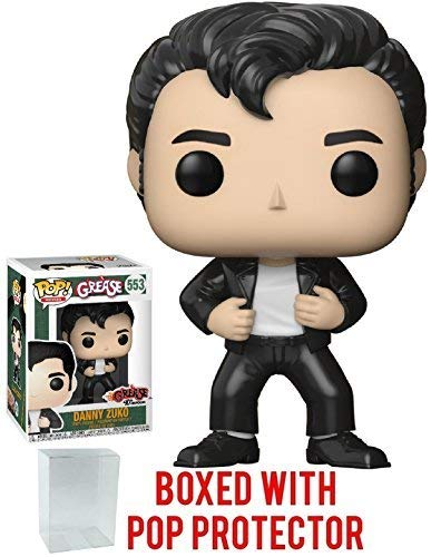 Funko Pop! Movies: Grease - Danny Zuko Vinyl Figure (Bundled with Pop Box Protector Case)