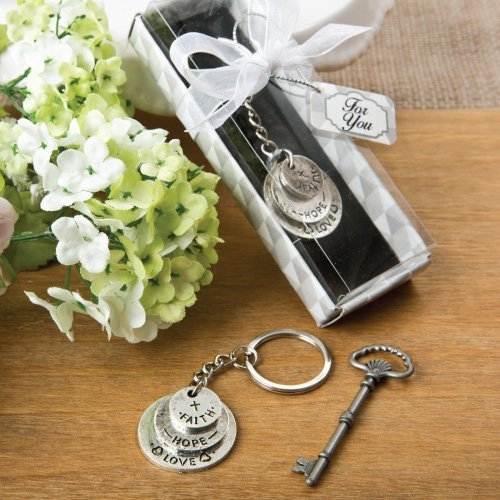 Love, Hope and Faith stacked disc key chain by Fashioncraft