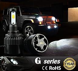 JDM ASTAR G1 8000 Lumens Extremely Bright 9006 COB LED Headlights, Xenon White