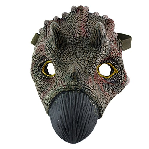 Coxeer Dinosaur Mask, Latex Animal Masks Scary Halloween Mask Masquerade Mask ()
