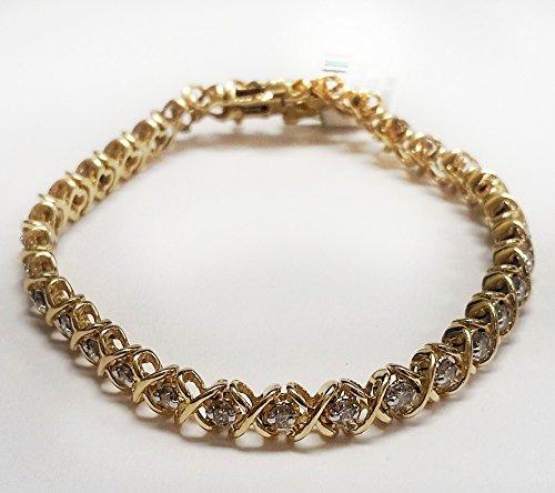 14k Yellow Gold Hugs & Kisses XO Bracelet with 2.24cttw Diamonds (Yellow Hugs 14k)