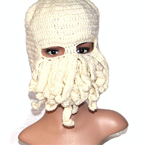 ECYC Tentacle Octopus Face Mask Winter Warm Knitted Squid Beanie ()