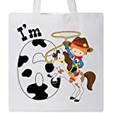 Inktastic - I'm Six-cowboy riding horse birthday Tote Bag White 2ca33