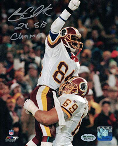 Gary Clark Autographed/Signed Washington Redskins 8x10 Photo Insc SGC