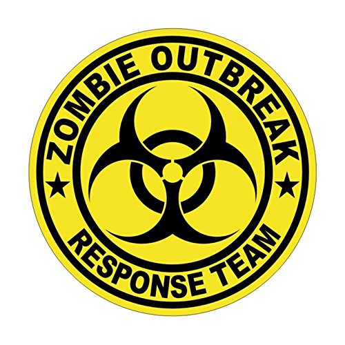 1 Set Notable Unique Zombie Outbreak Response Team Car Stickers Signs Safety Decor Weatherproof Hard Hat Decals Window Wall Laptop Art Patches Funny Vinyl Sticker Decal Size 2