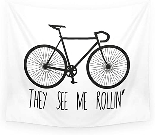 MMLUCK Tapiz Tapiz Mandala Bicicleta Hombre Fixie Gear Bicicleta ...