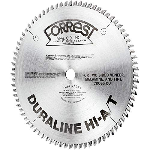 Forrest DH101007100 Duraline HI-A/T 10-Inch 100 Tooth 5/8-Inch Arbor .100-Inch Kerf Melimine & Plywood Cutting Circular Saw Blade ()