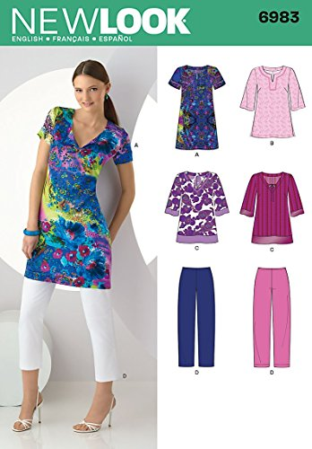 (Simplicity Creative Group, Inc New Look Sewing Pattern 6983 Misses' Separates, Size A (10-12-14-16-18-20-22))