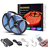 LED Strip Lights, 32.8ft 300 LEDs SMD 5050 RGB Color Changing LED Light Strip, IP65 Waterproof Tape Lighting with 44 Key Remote and 12V Power Supply for Home Kitchen Bedroom Party Decor