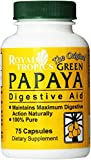 Royal Tropics The Original Green Papaya Digestive Aid Capsules, 75 Count Review