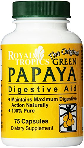 Digestive Greens (Royal Tropics The Original Green Papaya Digestive Aid Capsules, 75 Count)