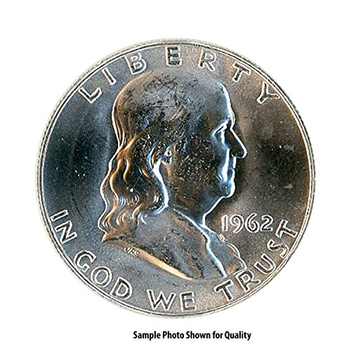 Franklin Half Dollar Silver Coin - 1962 D Franklin Silver Half Dollar 50C Brilliant Uncirculated