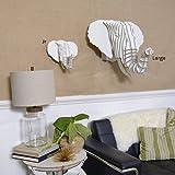 Cardboard Safari Recycled Cardboard Animal Taxidermy Elephant Trophy Head, Eyan White Medium