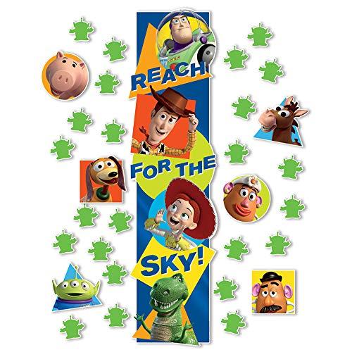 Eureka Disney Pixar Toy Story Classroom Decoration Door Poster Kit, 31pcs, 45'' H