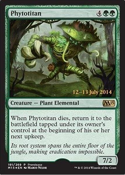 Magic the Gathering: Core Set M2015 x1 Phytotitan Promo FOIL MTG