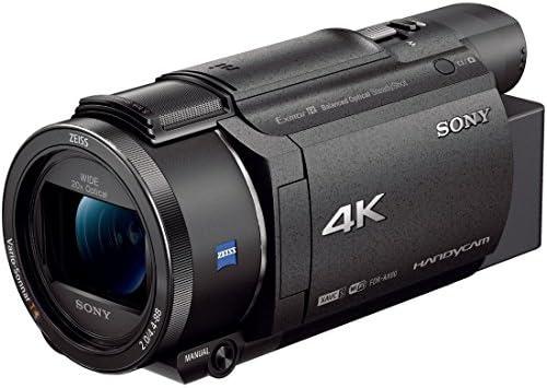 ソニー SONY ビデオカメラ FDR-AX60 4K 64GB 光学20倍 ブラック Handycam FDR-AX60 B12Kenko 55mm レンズフィルター PRO1D プロテクター レンズ保護用 薄枠 日本製 252550
