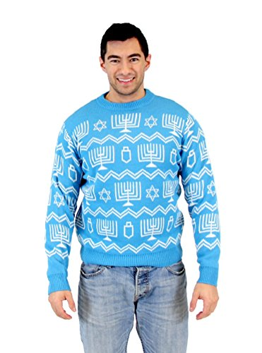 Hanukkah Symbols Pattern Ugly Sweater