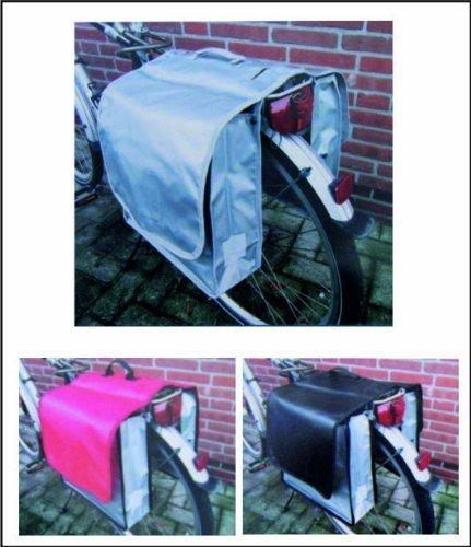 Filmer Fahrrad Gepäcktasche Doppeltasche Schwarz Rot Silber 01170411 (Silber)
