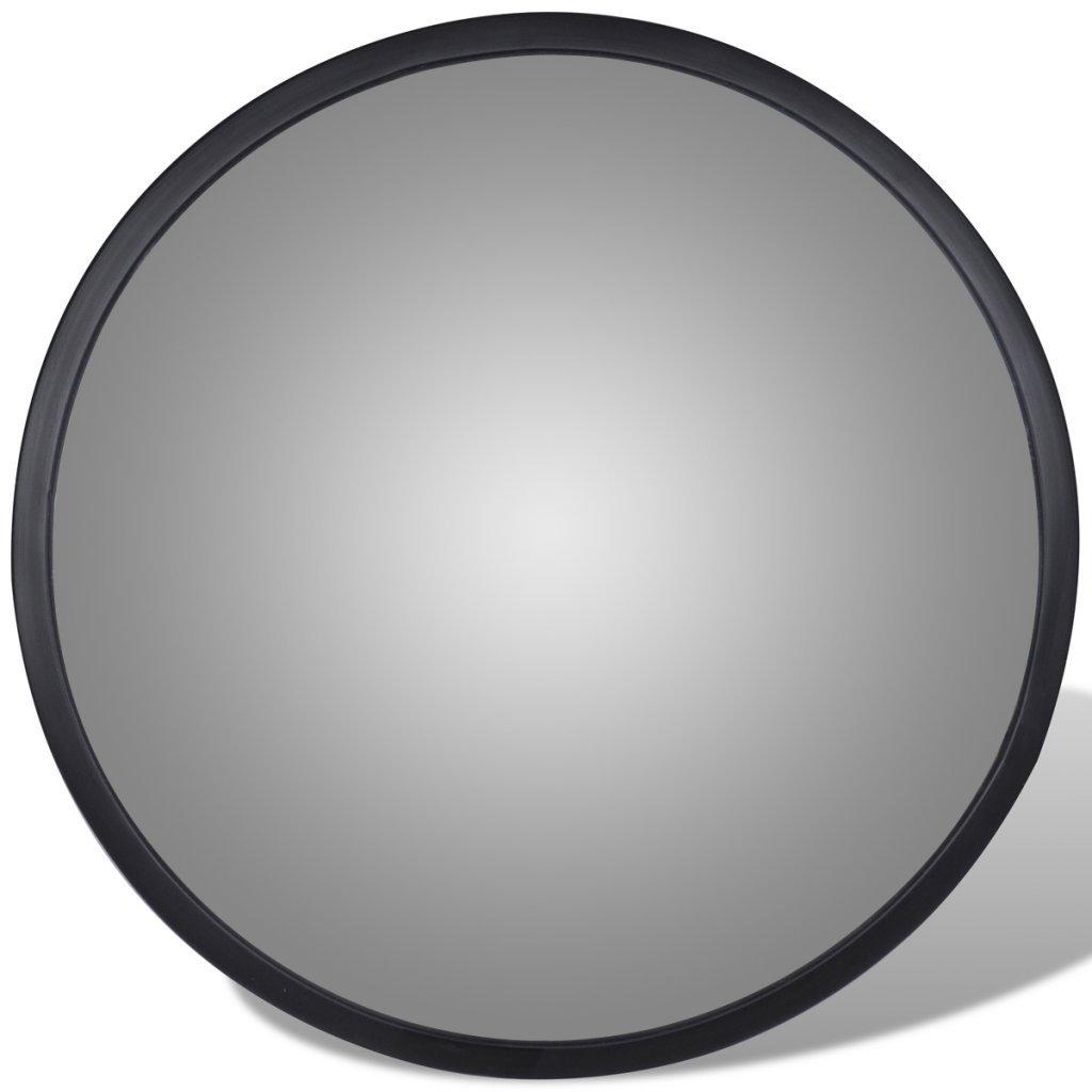 vidaXL Espejo Convexo de Tr/áfico Acr/ílicio Negro 30cm Retrovisor de Seguridad
