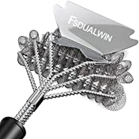 FSDUALWIN BBQ Grill Brushes, 100% Rust-Proof High-Nickel 304 Stainless Stee,Universal and Perfectly Angled, for All...