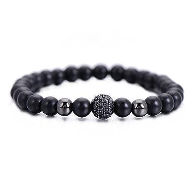 662b7ecce79d3 Amazon.com  Pipitree Elastic Handmade Lava Stone Bracelet Fitness ...
