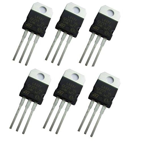 6 Pcs 3.3V 950mA LD1117V33 LD33V Voltage Regulator in Antistatic Bag