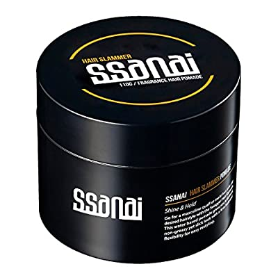 SSANAI Hair Slammer - Men's Hair Styling Pomade 110g 3.7oz, Strong Hold and Elegant Shine Water Based Easy Wash Rinse Classic Barber Original Formula for Straight, Thick and Curly Hair