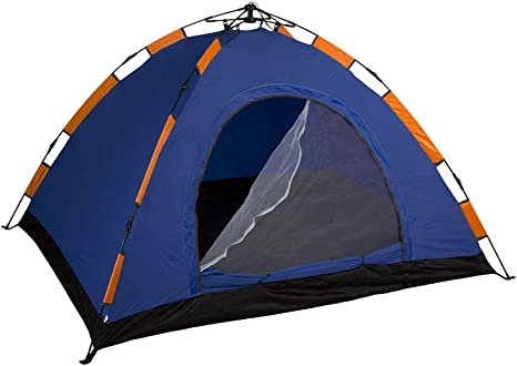 Aktive - Tienda Camping iglú para 3 personas, auto montable, medidas 200 x 150, color azul (85076)