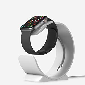 Charging Stand for Apple Watch Series 6 SE 5 4 3 2 1 44mm 40mm 42mm 38mm, iWatch Charging Stand Docking Station Holder with Nightstand Mode - Magnetic Charger Not Included