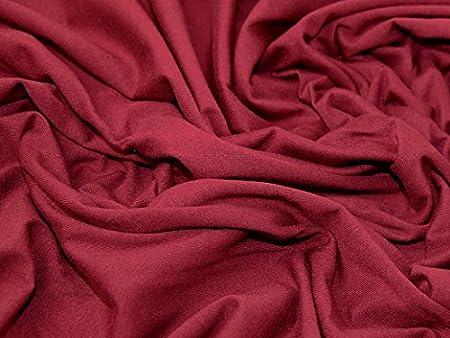 Algodón y elastano elástico Jersey Knit vestido Tela vino – por metro: Amazon.es: Hogar