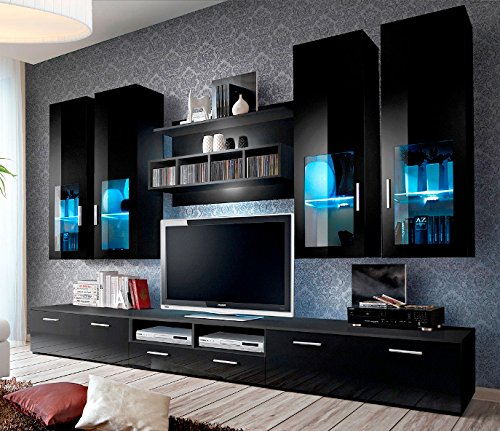 Concept Muebles Presto Modern Wall Unit/Entertainment Centre/Spacious And  Elegant Furniture/TV